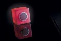 Smooz Lampe de table avec haut-parleur Cube blanc 15 cm-Image 1