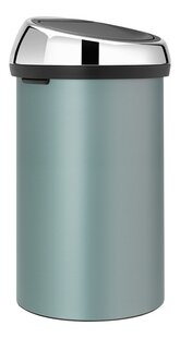 Brabantia Afvalemmer Touch Bin metallic mint 60 l-Linkerzijde