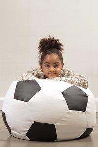 Pouf Lounge Football Euro blanc/noir-Image 2