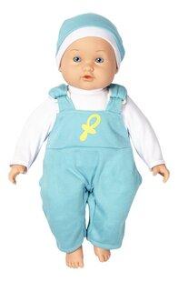 DreamLand zachte pop Mijn eerste pop blauw pakje