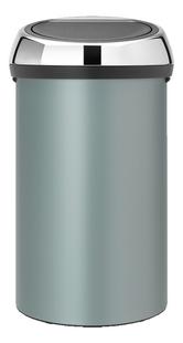 Brabantia Afvalemmer Touch Bin metallic mint 60 l-Vooraanzicht