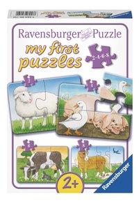 Ravensburger puzzel 4-in-1 My first Puzzles Boerderijdieren-Vooraanzicht