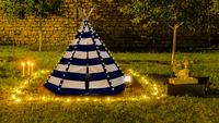 Sunny tipi Lumo avec éclairage LED bleu/blanc-Image 1