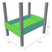 BnB Wood bac à sable/table à potager pour Nieuwpoort-Détail de l'article