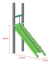 Plan incliné avec corde pour Nieuwpoort/Goal/Fireman-Détail de l'article