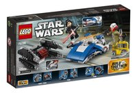 LEGO Star Wars 75196 A-Wing vs TIE Silencer microfighters-Achteraanzicht