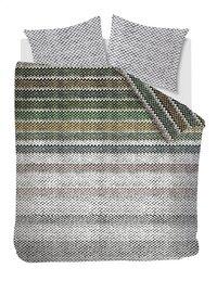 Beddinghouse Dekbedovertrek Jarno flanel green 240 x 220 cm-Vooraanzicht