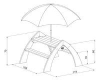 AXI table de pique-nique pour enfants Kylo avec parasol-Détail de l'article