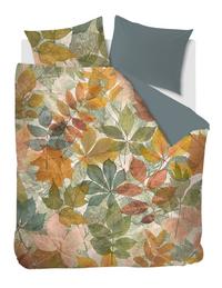 Beddinghouse Dekbedovertrek Leafage multi katoensatijn 200 x 220 cm-Vooraanzicht