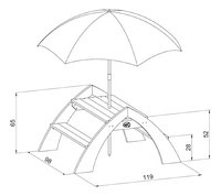 AXI kinderpicknicktafel Kylo met parasol-Artikeldetail
