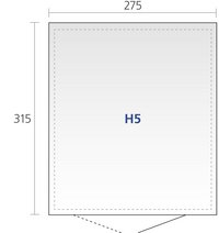 Biohort abri de jardin avec porte double Higline gris argenté 315 x 275 cm-Détail de l'article