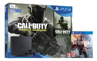 Sony PS4 Slim console 1 To +  Call of Duty Infinite Warfare + Modern Warfare FR/ANG + Battlefield 1