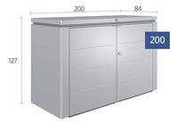 Biohort Opbergbox HighBoard donkergrijs 200 x 84 cm-Artikeldetail