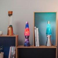 Lampe à lave Galaxy avec paillettes mauve/bleu-Image 2
