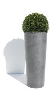 Ecopot's Hoge ronde bloembak Amsterdam grey-Afbeelding 1