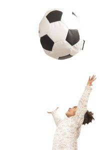 Zitzak Voetbal klein zwart/wit-Artikeldetail