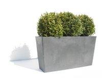 Ecopot's Rechthoekige bloembak Paris grey L 100 cm-Afbeelding 1