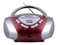 MPMan draagbare radio/cd-speler Boombox 30 rood/grijs
