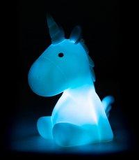 Veilleuse licorne bleu pastel-Image 1