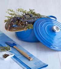 Le Creuset ronde stoofpan Signature bleu marseille 20 cm - 2,4 l-Afbeelding 1