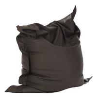 Pouf Beanbag aspect cuir noir