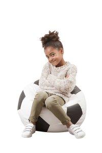 Pouf Ballon de football petit noir/blanc