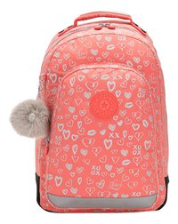 Kipling sac à dos Class Room Hearty Pink Met-Avant