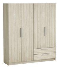 Demeyere Meubles Garde-robe 4 portes et 2 tiroirs Glory décor chêne shannon-Côté gauche