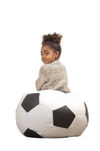 Zitzak Voetbal klein zwart/wit-Afbeelding 4