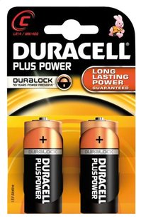 Duracell 2 piles C Plus Power