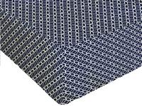 Origin Hoeslaken voor bed Claudia blauw/wit bamboe/katoen