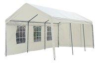 Tente de réception robuste en polyéthylène 3 x 6 m-Avant