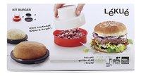 Lékué Hamburgerpers en -bakvormen Kit Burger-Vooraanzicht