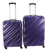 Transworld Harde trolleyset Curty Spinner purple-Vooraanzicht