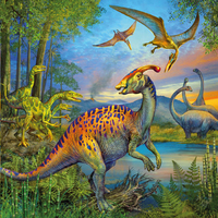 Ravensburger 3-in-1 puzzel Dinosauriërs-Artikeldetail
