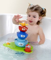 Yookidoo Fontaine Stack & Spray Tub -Image 1