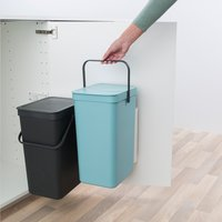 Brabantia Poubelle encastrable Sort & Go mint/gris 2 x 16 l-Détail de l'article