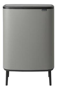 Brabantia Afvalemmer Touch Bin Bo Hi mineral concrete grey 2 x 30 l-Vooraanzicht