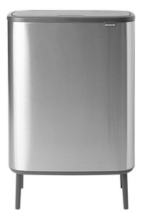 Brabantia Poubelle Touch Bin Bo Hi matt steel fingerprint proof 60 l-Avant