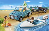 Playmobil Summer Fun 6864 Voiture avec bateau et moteur submersible-Image 1