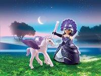 Playmobil Easter 6837 Reine des étoiles avec bébé cheval ailé-Image 1
