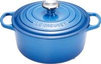 Le Creuset cocotte ronde Signature bleu Marseille 28 cm - 6,7 l-Avant