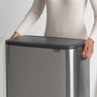 Brabantia Afvalemmer Touch Bin Bo matt steel fingerprint proof 2 x 30 l-Afbeelding 5