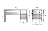 Bureau Dennis betongrijs-Artikeldetail
