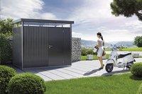 Biohort Abri de jardin avec porte simple HighLine gris foncé 155 x 275 cm-Image 4