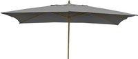 Parasol de luxe en bois FSC 2 x 3 m gris
