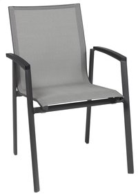 Chaise de jardin Bondi gris/anthracite