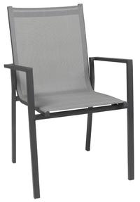 Chaise de jardin Forios gris/anthracite
