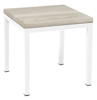 Tabouret Salerno blanc Grey Wash/blanc