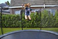 EXIT trampoline enterré avec filet de sécurité Elegant Ground Premium Deluxe Ø 4,27 m vert-Image 1